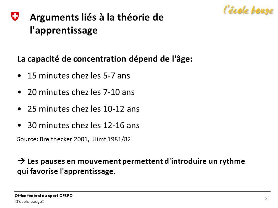 Arguments liés à la théorie de l apprentissage