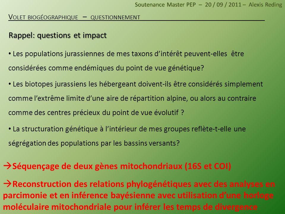 Rappel: questions et impact