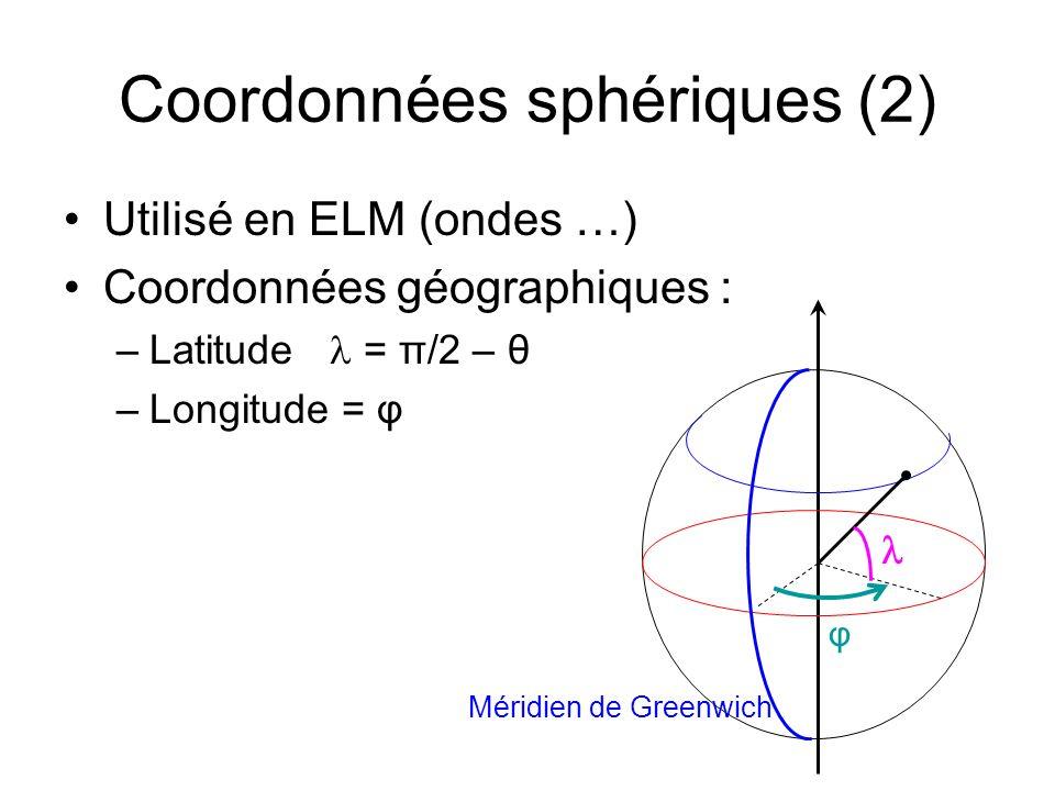 Coordonnées sphériques (2)