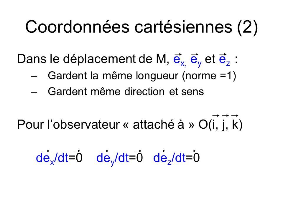 Coordonnées cartésiennes (2)