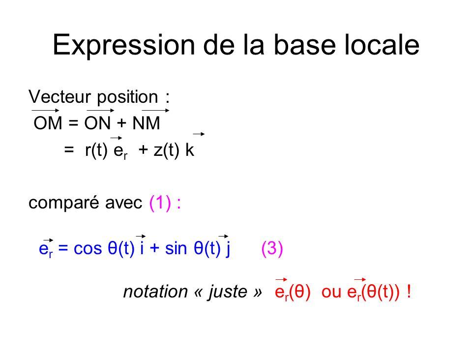 Expression de la base locale