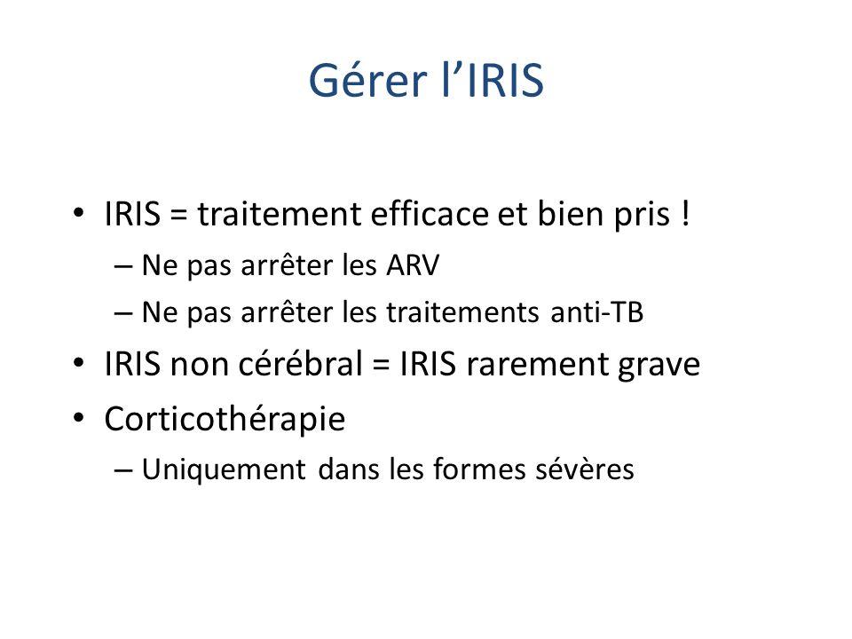 Gérer l'IRIS IRIS = traitement efficace et bien pris !