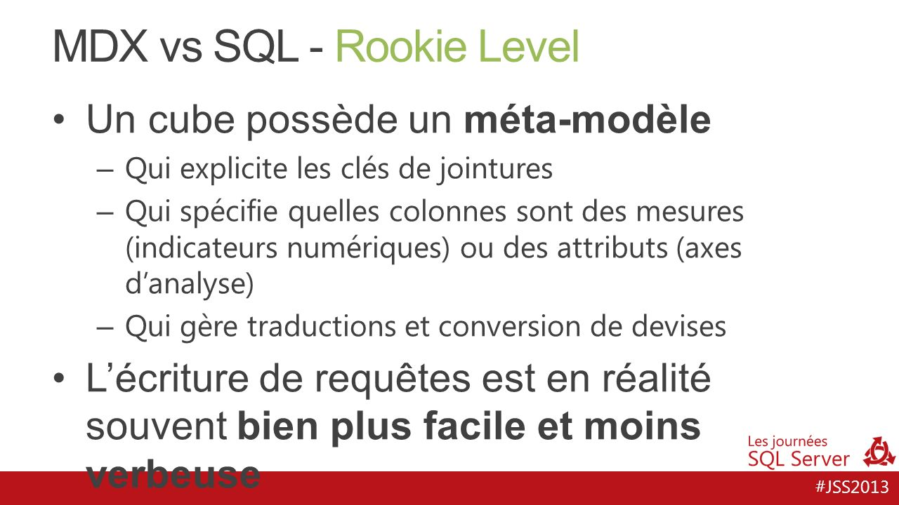 MDX vs SQL - Rookie Level