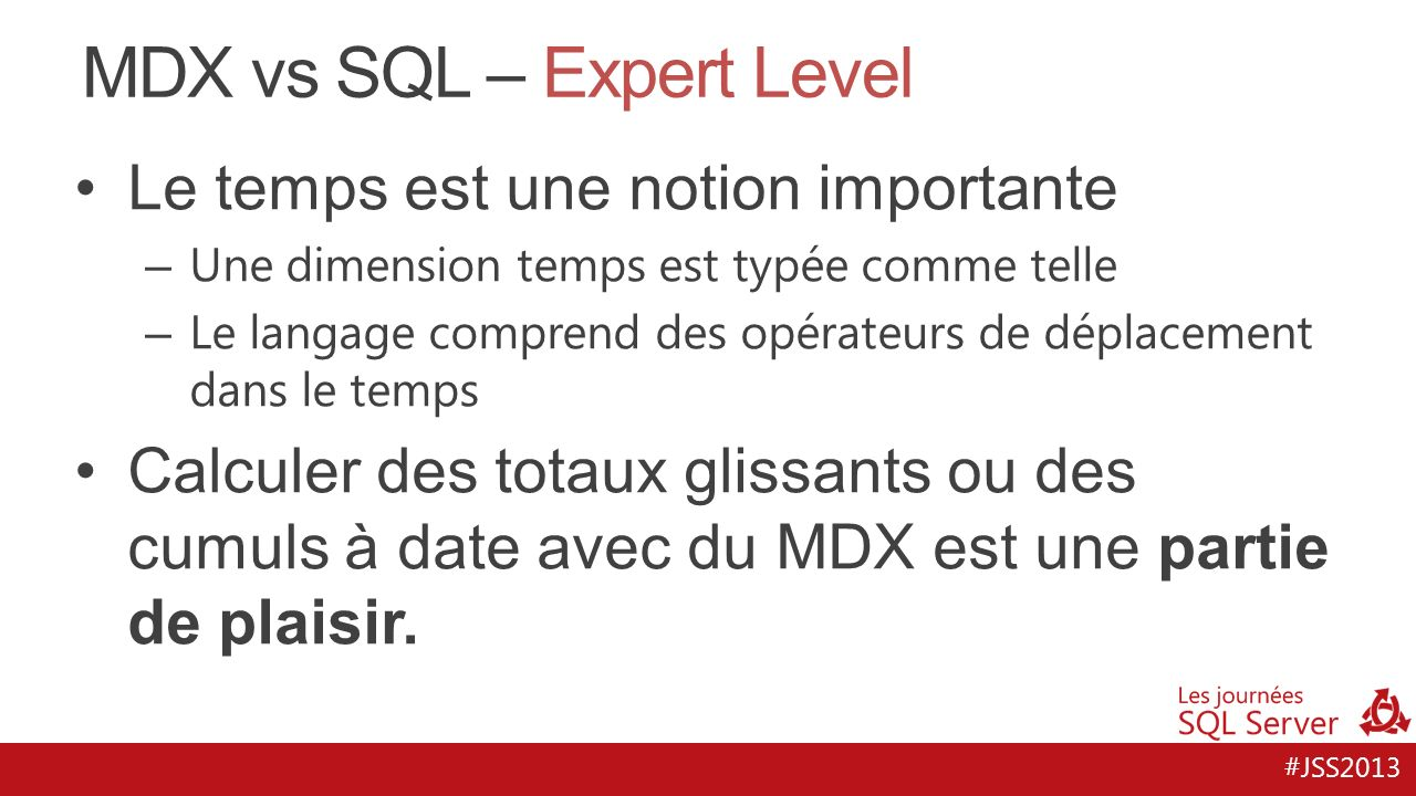 MDX vs SQL – Expert Level