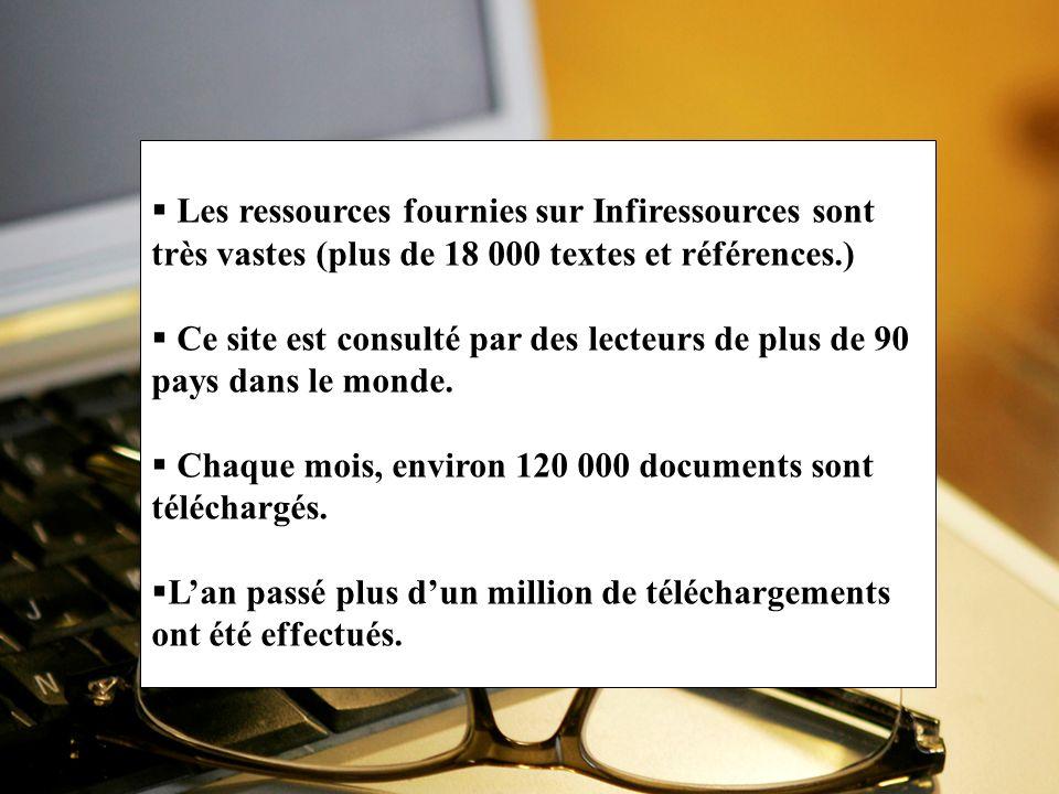 Chaque mois, environ 120 000 documents sont téléchargés.