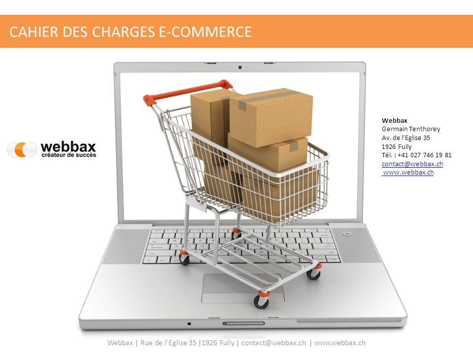 CAHIER DES CHARGES E-COMMERCE