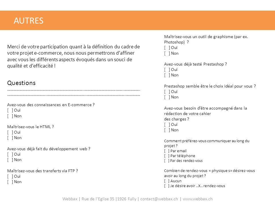 AUTRES QUESTIONS DIVERSES Questions