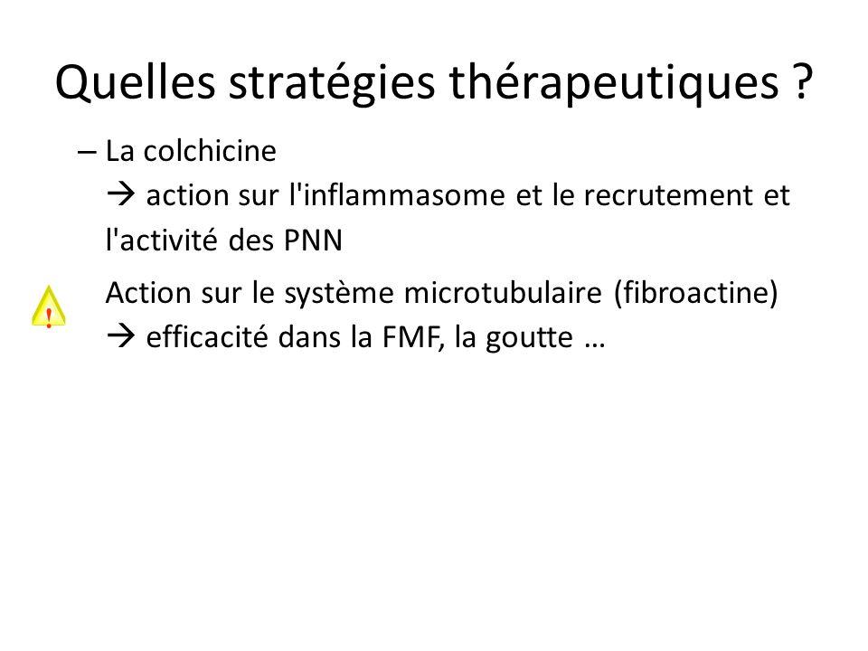 Quelles stratégies thérapeutiques