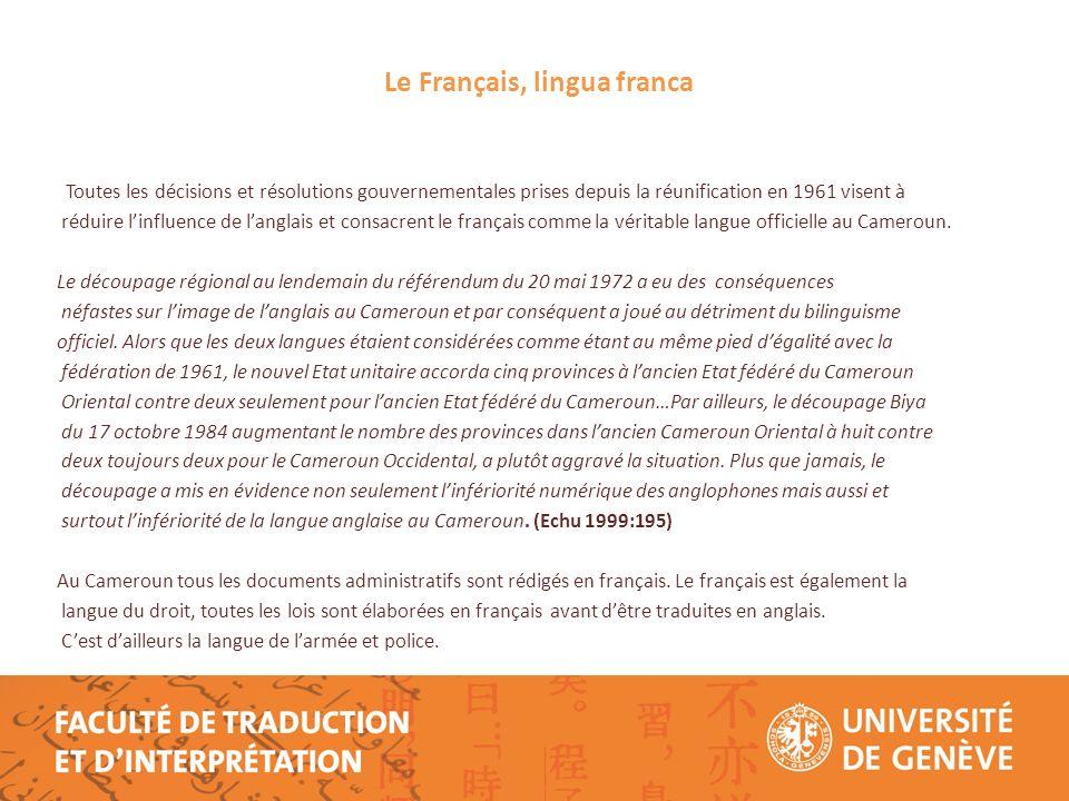 Le Français, lingua franca