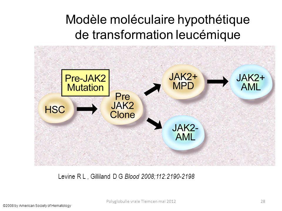 Modèle moléculaire hypothétique de transformation leucémique