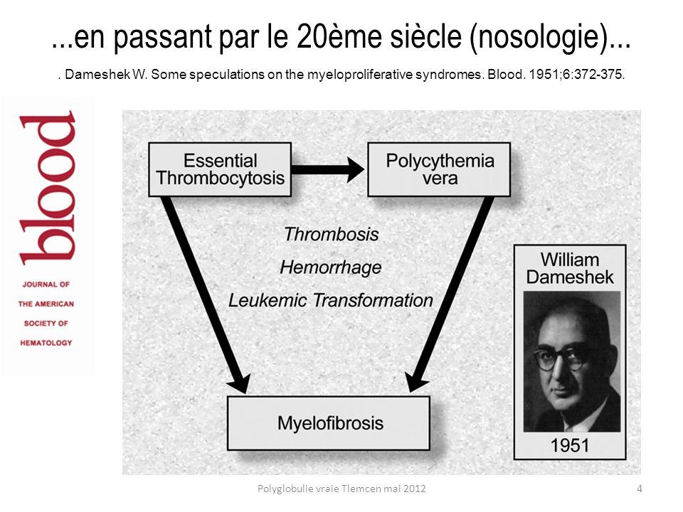 ...en passant par le 20ème siècle (nosologie)...
