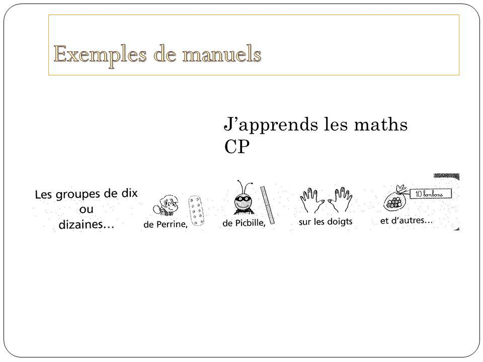 Exemples de manuels J'apprends les maths CP