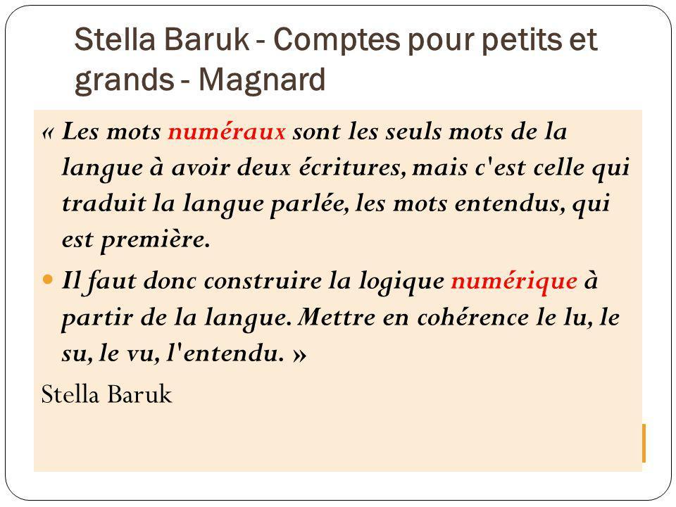 Stella Baruk - Comptes pour petits et grands - Magnard