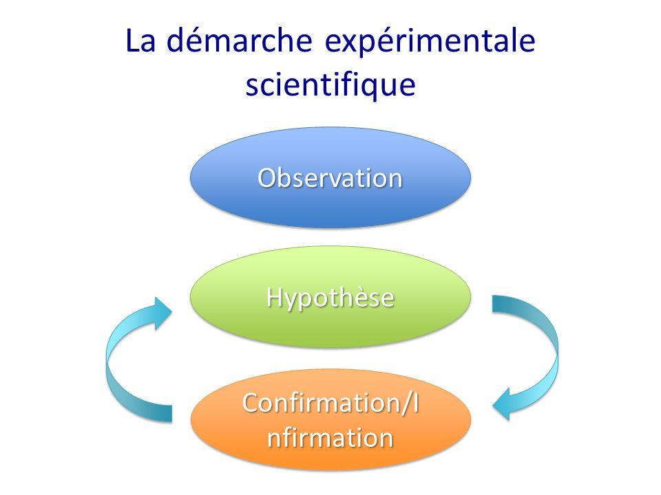 La démarche expérimentale scientifique