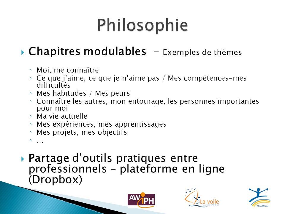 Philosophie Chapitres modulables - Exemples de thèmes
