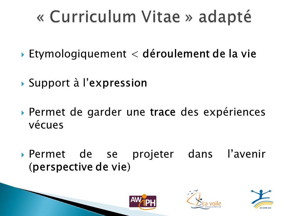 « Curriculum Vitae » adapté