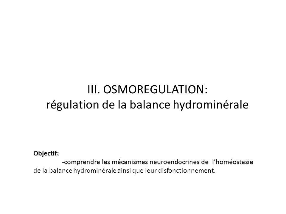 régulation de la balance hydrominérale