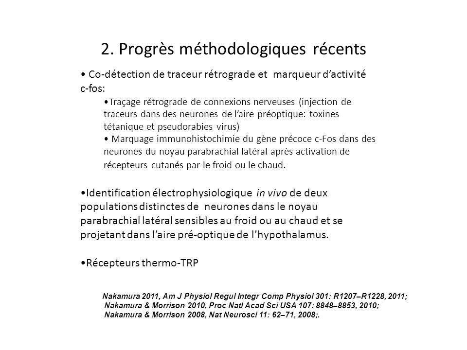 2. Progrès méthodologiques récents