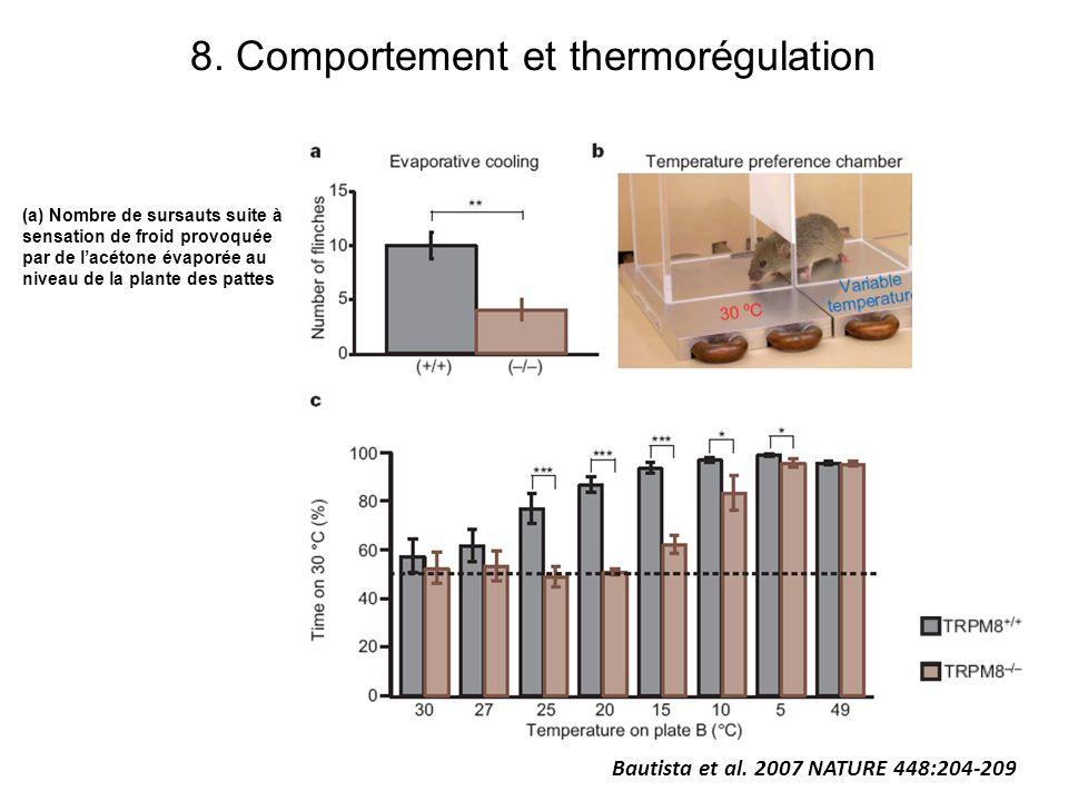 8. Comportement et thermorégulation