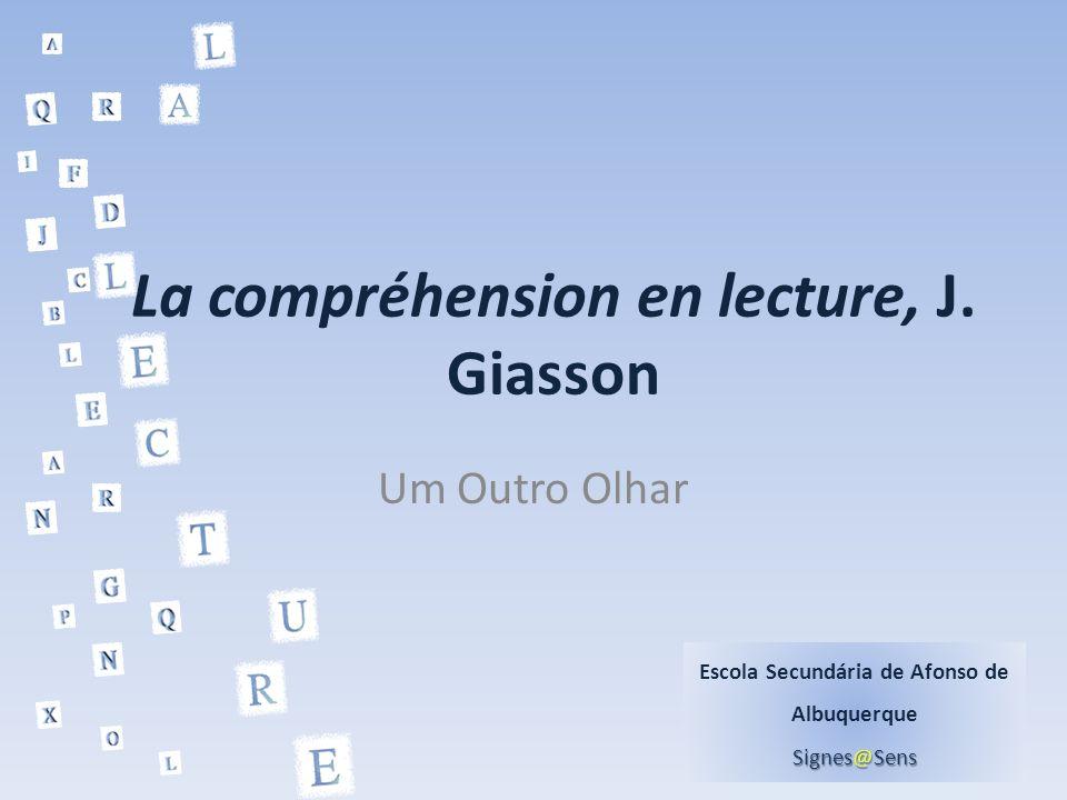 La compréhension en lecture, J. Giasson