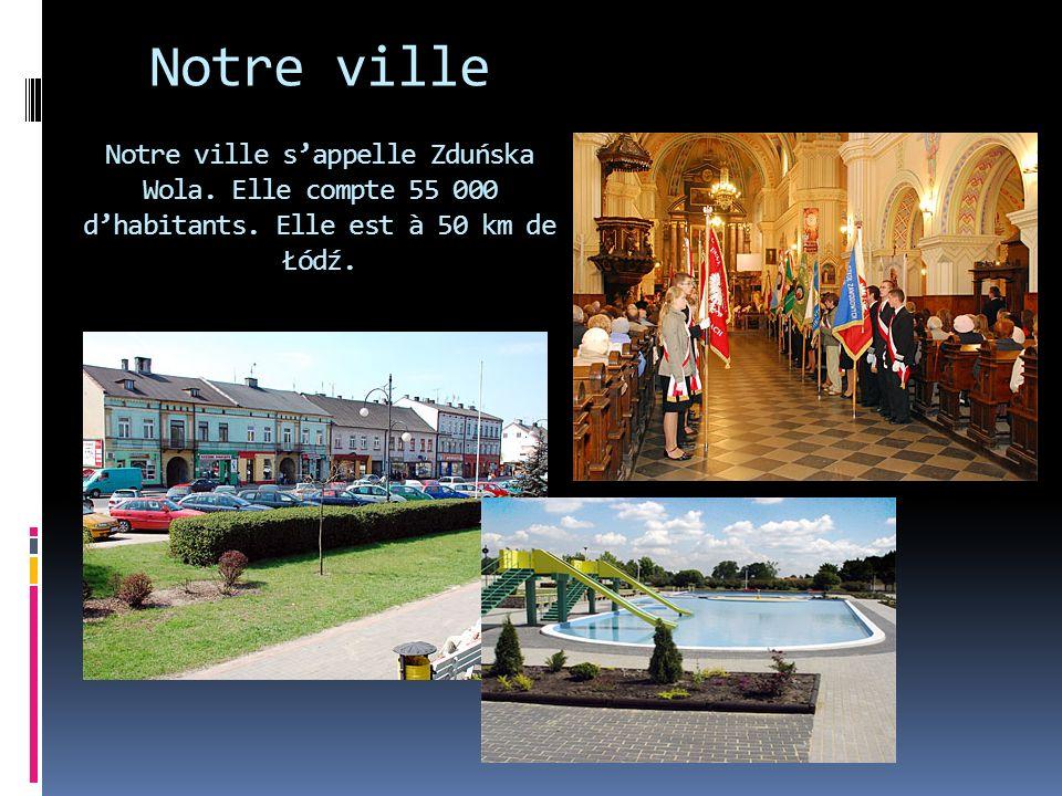 Notre ville Notre ville s'appelle Zduńska Wola