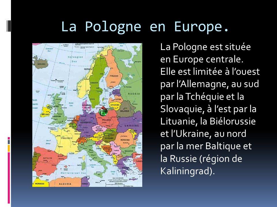 La Pologne en Europe.