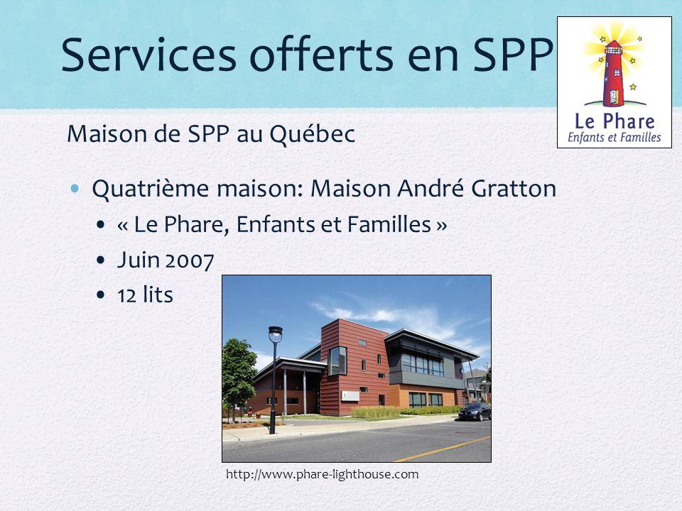 Services offerts en SPP
