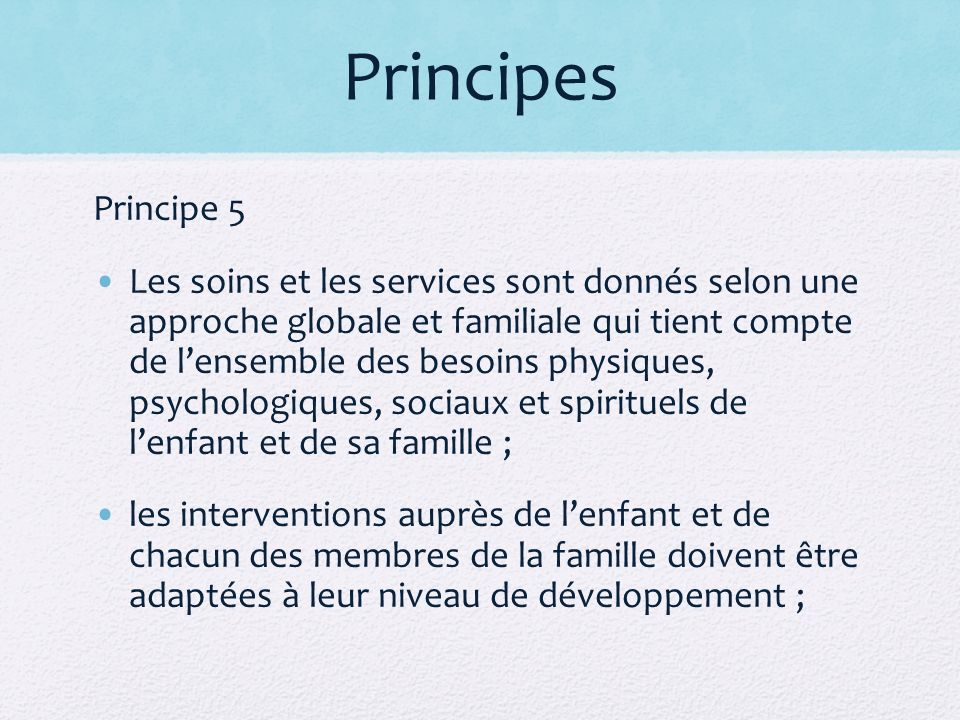 Principes Principe 5.