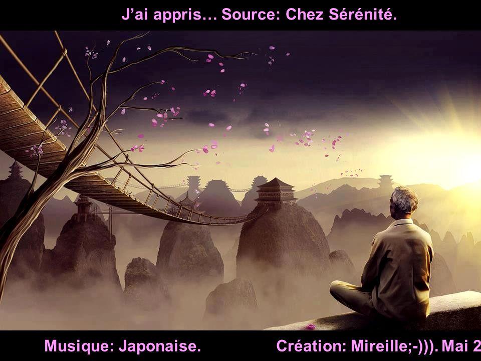 J'ai appris… Source: Chez Sérénité.
