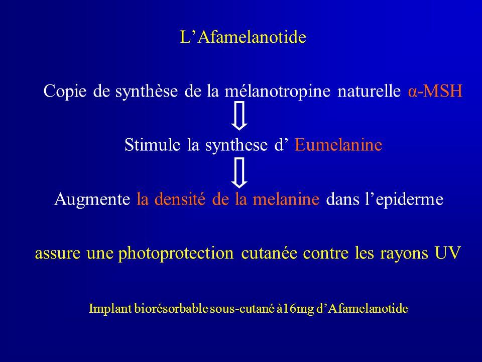 Copie de synthèse de la mélanotropine naturelle α-MSH