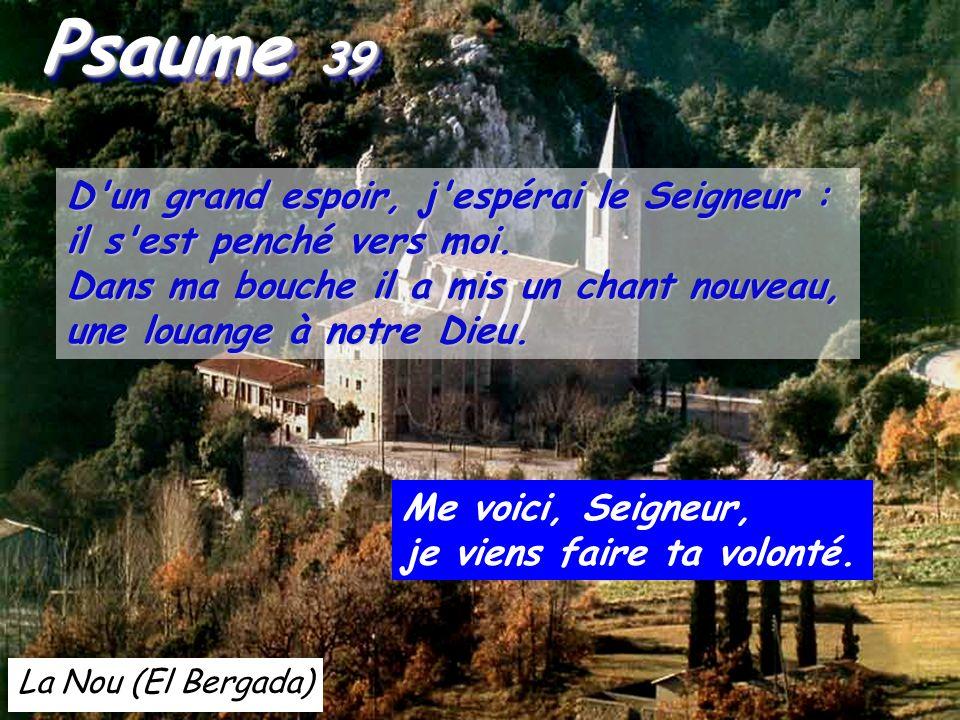 Psaume 39 D un grand espoir, j espérai le Seigneur :