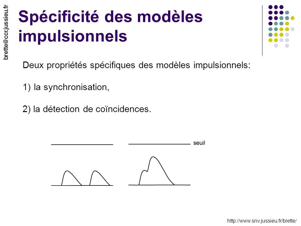 Spécificité des modèles impulsionnels