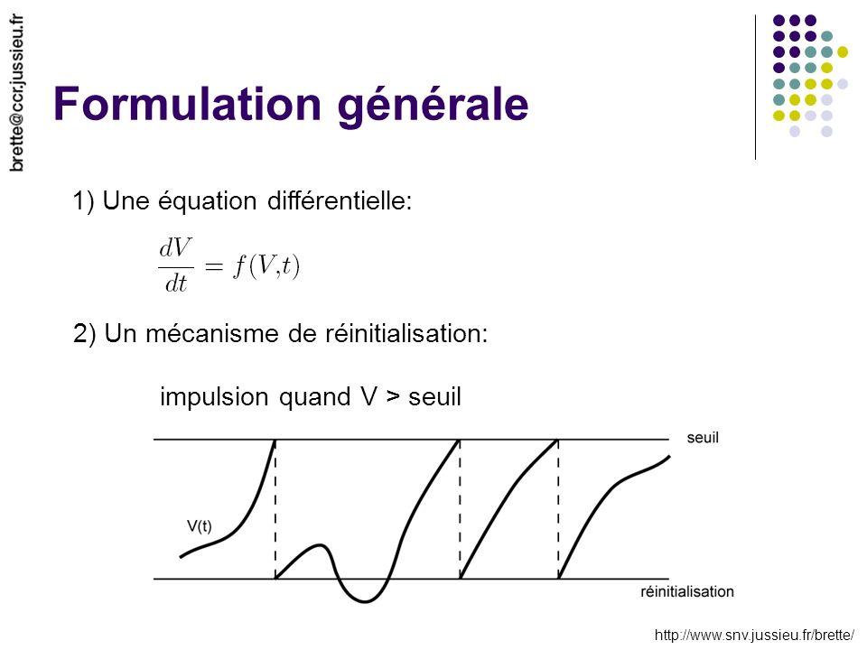 Formulation générale 1) Une équation différentielle: