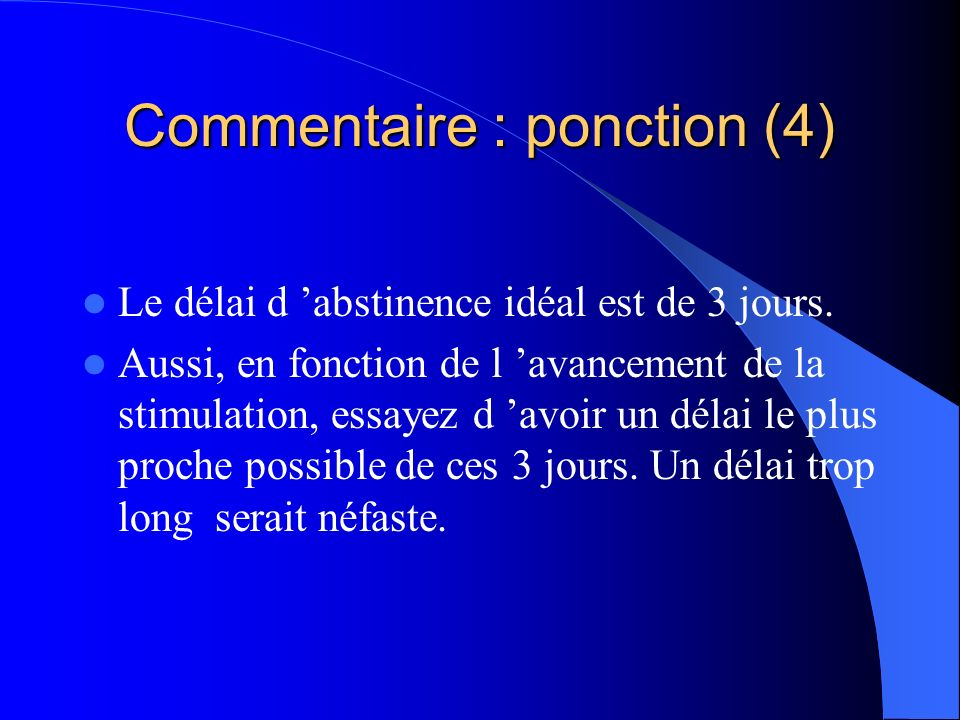 Commentaire : ponction (4)