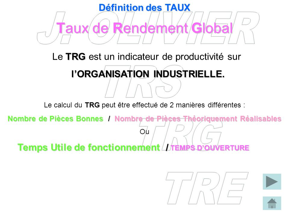 Taux de Rendement Global