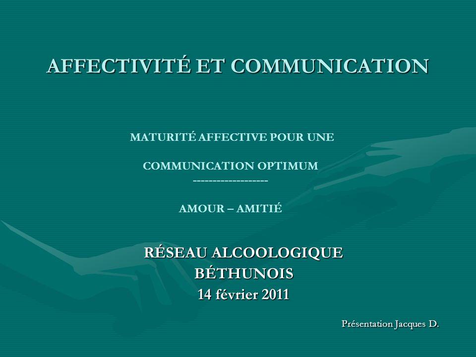 AFFECTIVITÉ ET COMMUNICATION