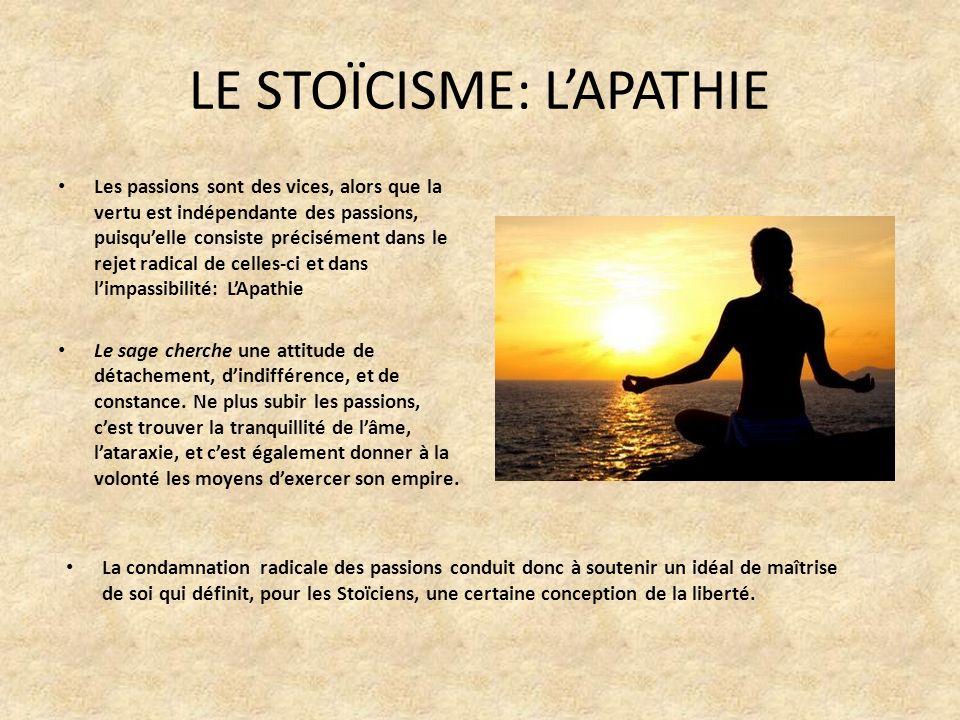 LE STOÏCISME: L'APATHIE