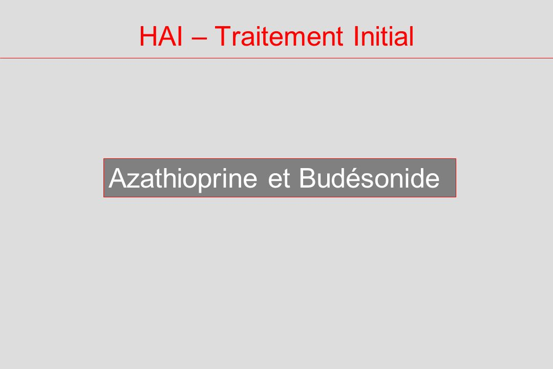 HAI – Traitement Initial