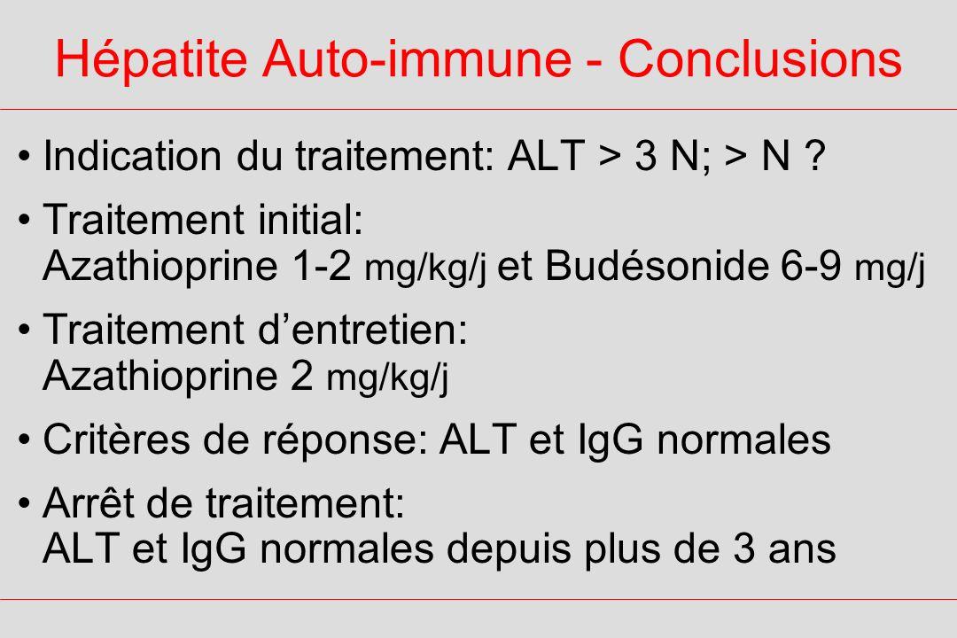 Hépatite Auto-immune - Conclusions