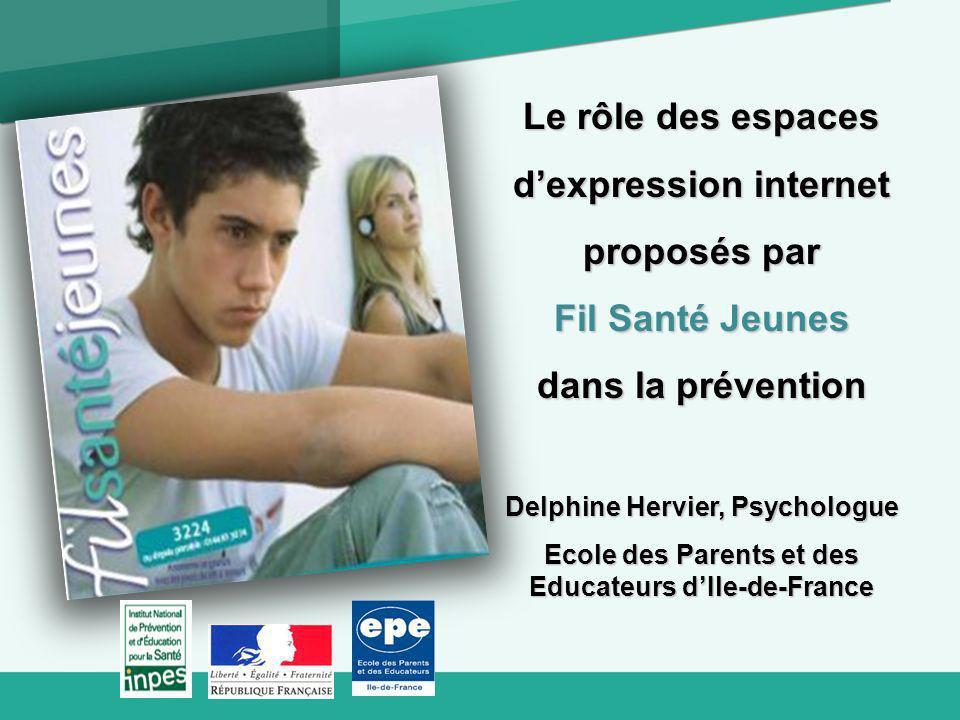 d'expression internet proposés par Fil Santé Jeunes dans la prévention