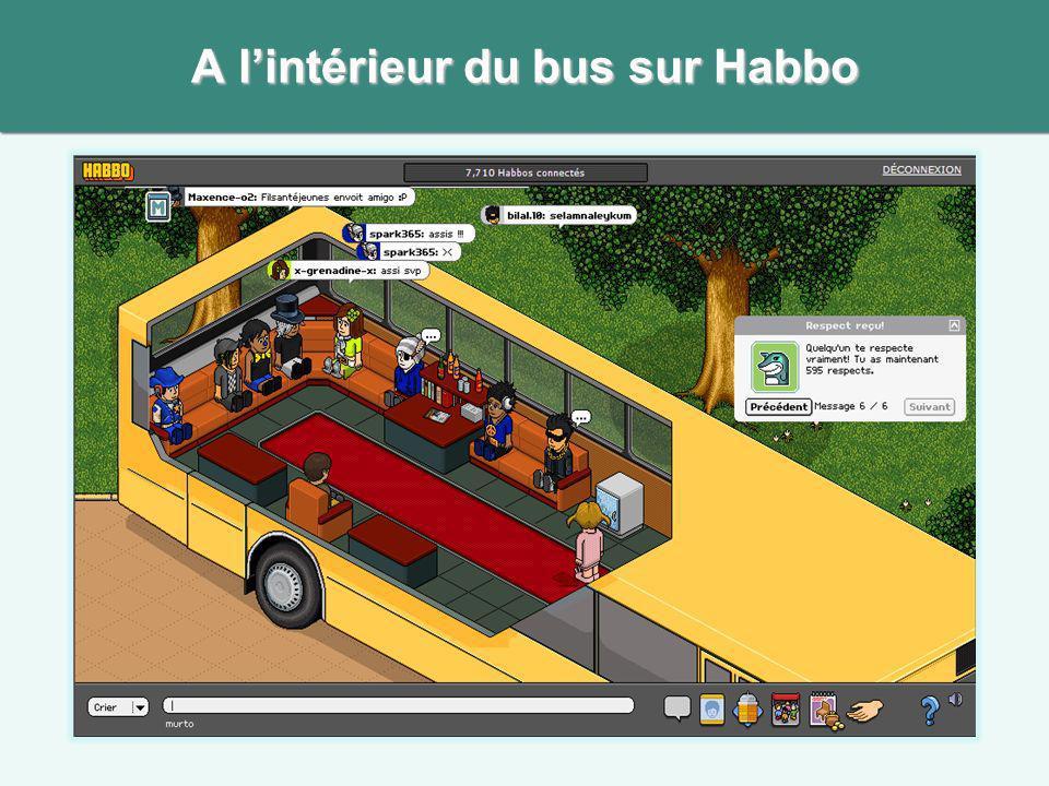 A l'intérieur du bus sur Habbo