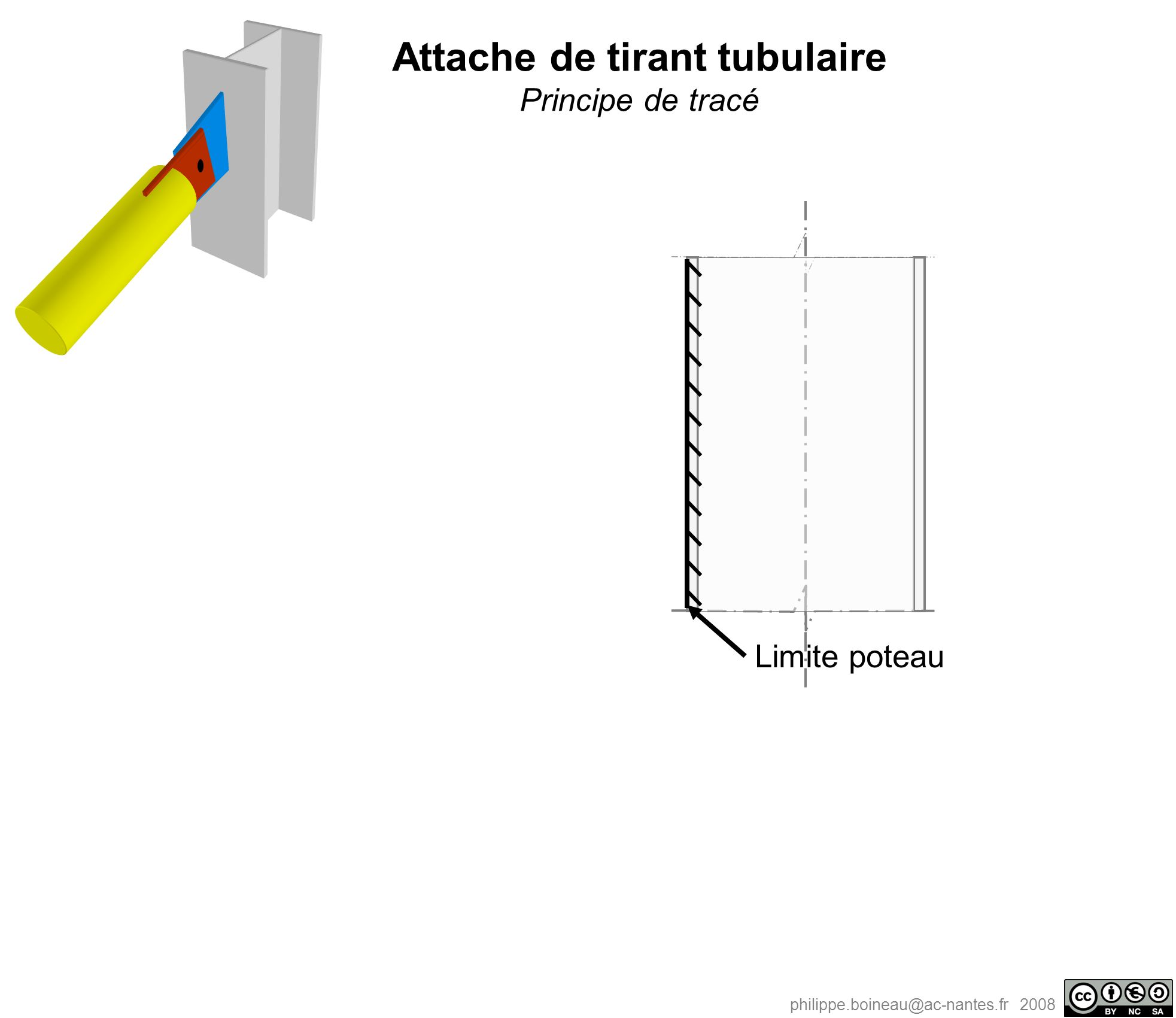 Attache de tirant tubulaire