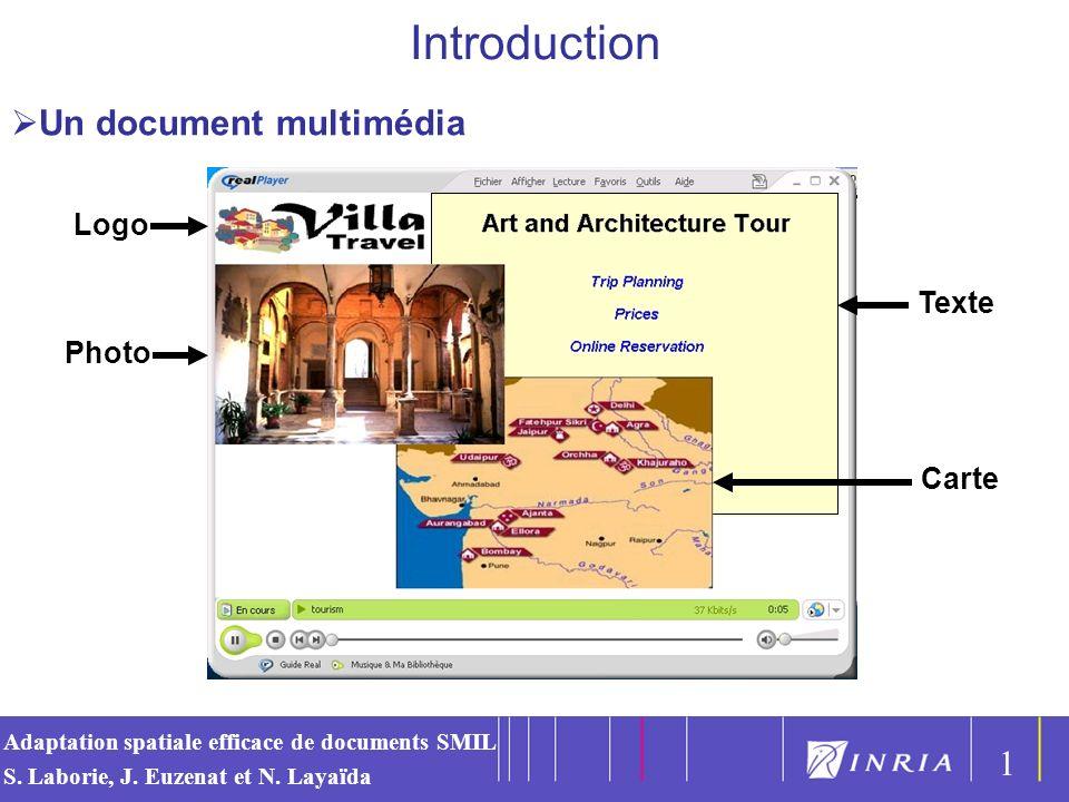 Introduction Un document multimédia 1 Logo Texte Photo Carte