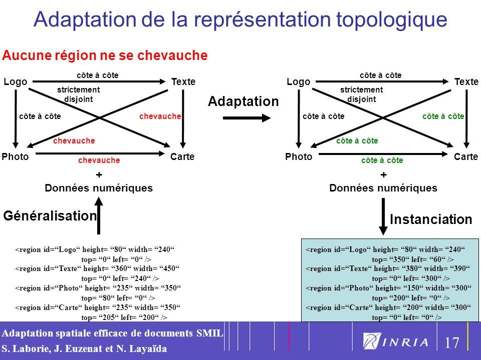 Adaptation de la représentation topologique