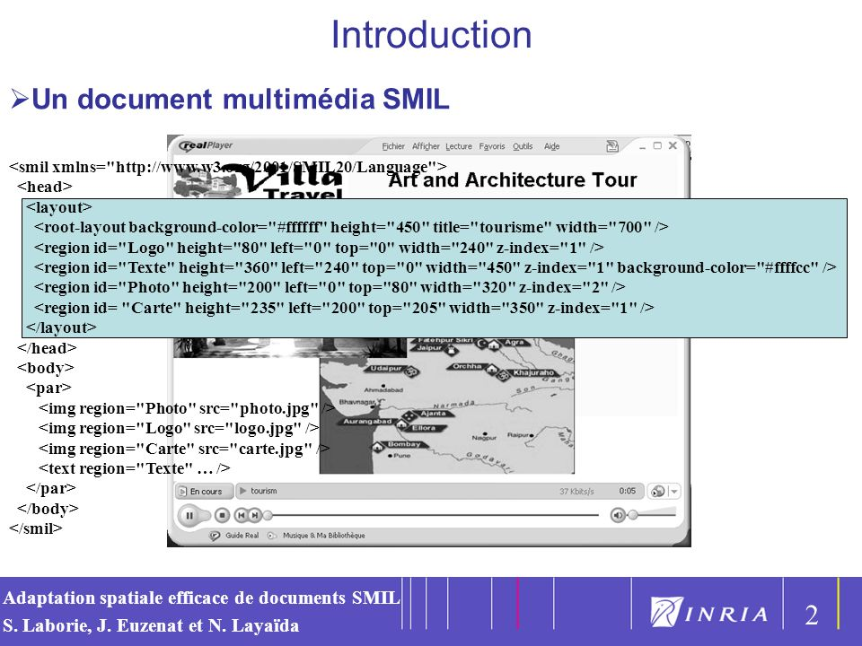 Introduction Un document multimédia SMIL 2