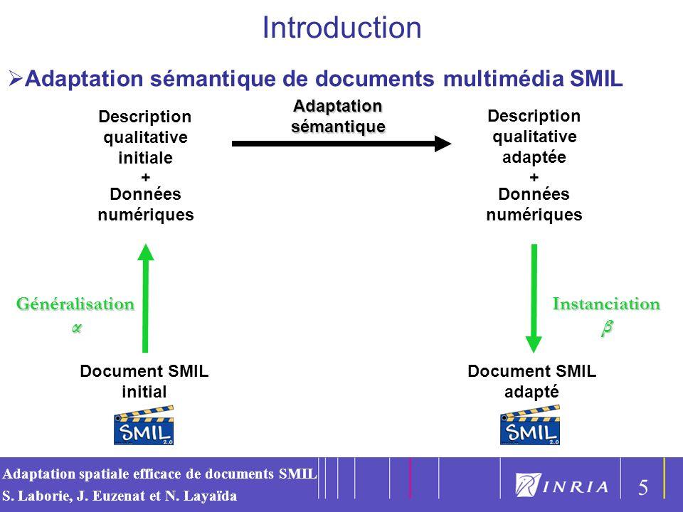 Introduction Adaptation sémantique de documents multimédia SMIL 5