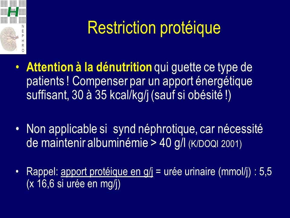 Restriction protéique