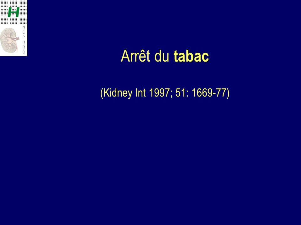 Arrêt du tabac (Kidney Int 1997; 51: 1669-77)