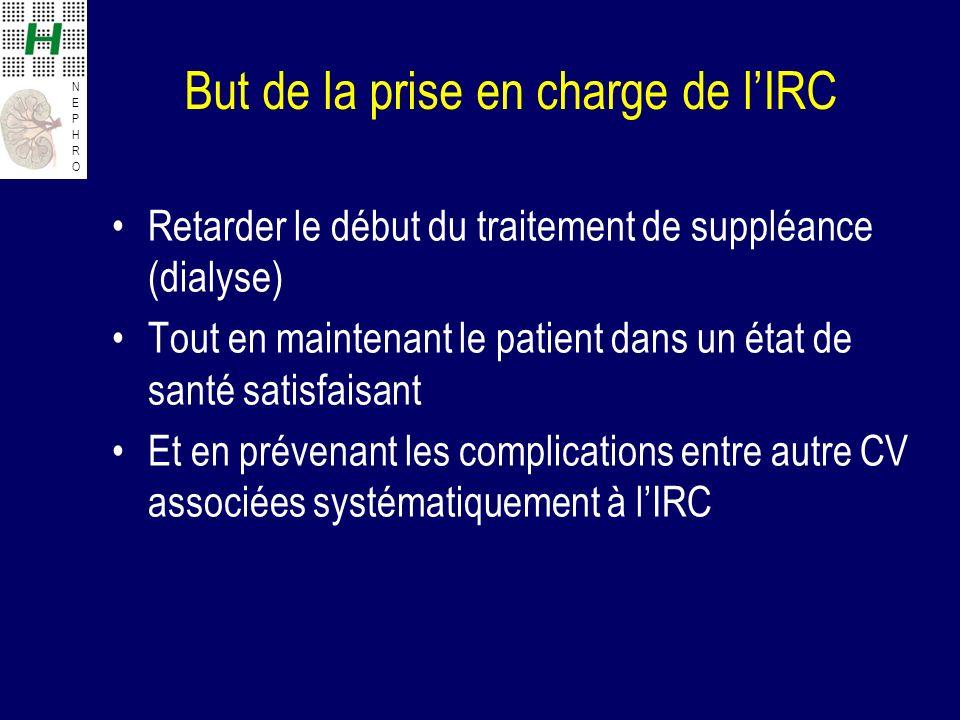 But de la prise en charge de l'IRC