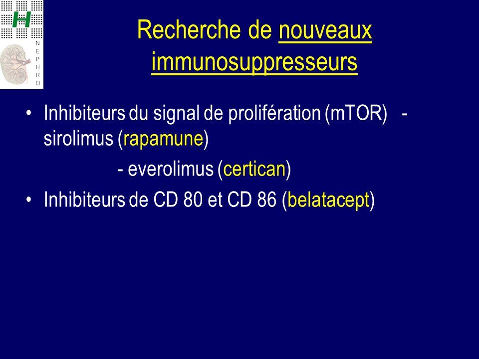 Recherche de nouveaux immunosuppresseurs